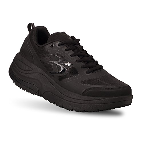 Gravity Defyer Men's G-Defy Ion Black Athletic Shoes 13 M US Comfortable Walking Shoes Plantar Fasciitis Shoes (The Best Walking Shoes For Plantar Fasciitis)