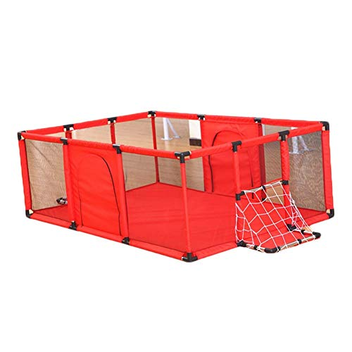 - YOUXDA Baby Large Mesh Fence with Door Indoor Courtyard Free-Standing Playground (Color : Red)