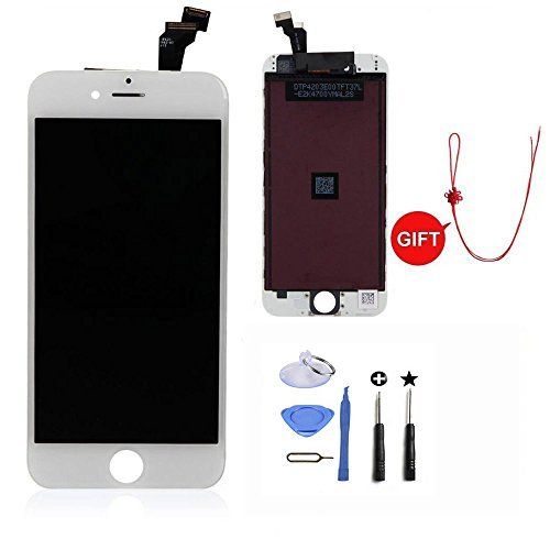 LCD Display & Touch Screen Digitizer Replacement Full Assembly for iPhone 6 (4.7 inch) With Free Tools Kit (White)