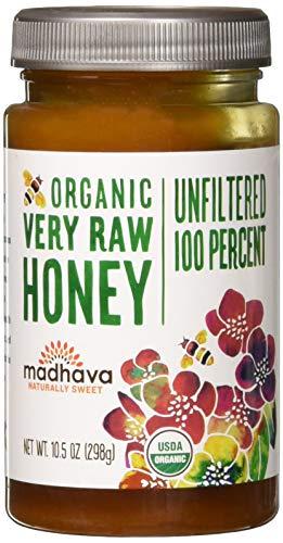 Madhava Honey Organic Very Raw Honey, 10.5 oz