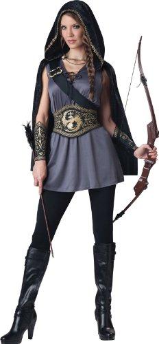 [InCharacter Costumes Women's Huntress Costume, Grey/Black, Medium] (Sexy Halloween Cost)
