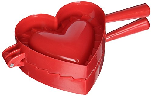 Norpro 1012 Heart Dough and Dumpling Press, Red (Outs Mini Cut Hearts)