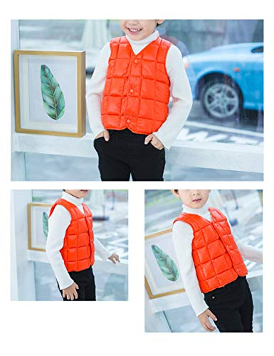 Girls Down Boys Casual Sleeveless Warm Slim Gilet Jacket Lightweight Child for Outwear fit Vest BESBOMIG Orange Cotton Waistcoat zw4CBnqpZ
