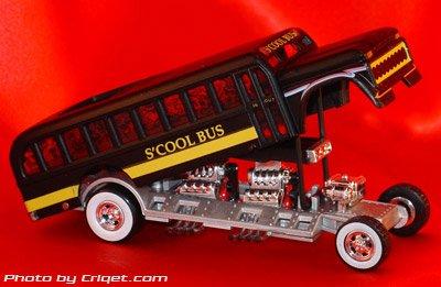 (Tom Daniel's RAD RATZ 1:43 Diecast Old Skool Rat Rod - S'Cool Bus)