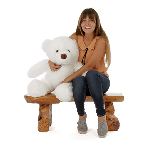(Giant Teddy 2.5 Foot Teddy Bear Stuffed Animal Toy Huggable Cute Chubs Bear (Snow White))