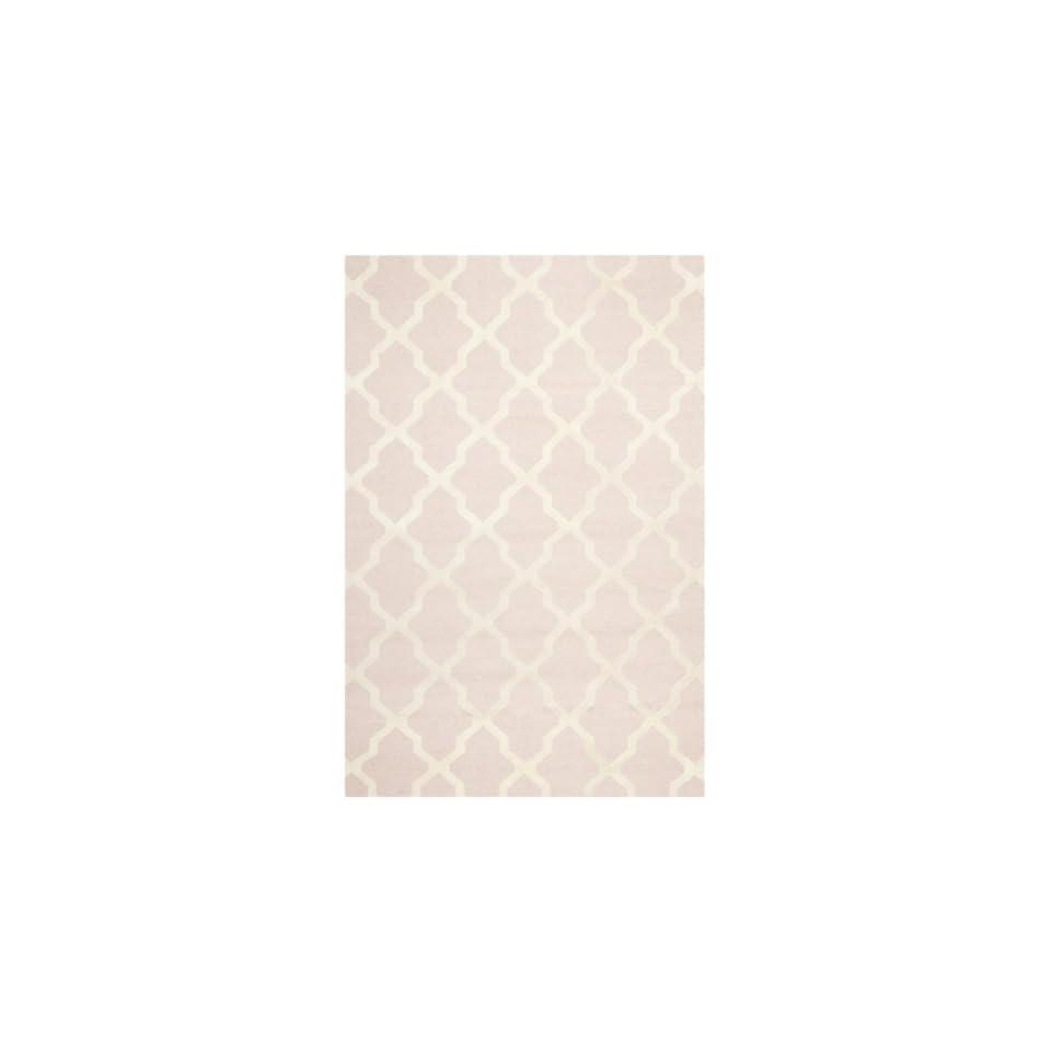 Safavieh Cambridge Collection CAM121M Handmade Moroccan Geometric Light Pink and Ivory Premium Wool Area Rug (26 x 4)