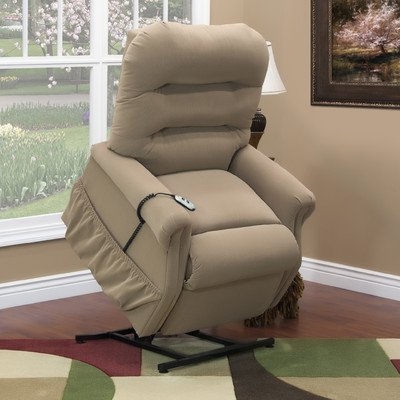 30 Series Wide Three-Way Reclining Lift Chair Moveable Infrared Heat: No, Vibration and Heat: None, Upholstery: Aaron - Light (Series Wide Lift Chair)