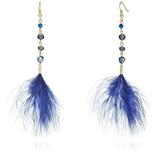 Funky Fish (Drop) Earrings for Women (Blue) (I-650_D7297473303186)