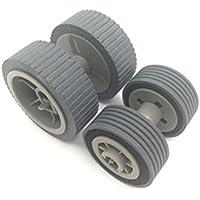 OKLILI PA03540-0001 PA03540-0002 Brake Roller + Pick Roller Pickup Roller for Fujitsu fi-6240Z fi-6140Z fi-6230Z fi-6130Z fi-6240 fi-6140 fi-6230 fi-6130 fi-6125 fi-6225