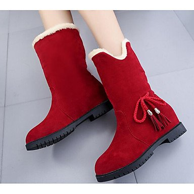 RTRY Boots Winter Ankle Red Fabric CN36 Booties EU36 Boots Shoes Flat Combat UK4 Heel Yellow For Casual Polyamide Fall Pu Boots Fashion Black Women'S Boots US6 rnw8qAYfr
