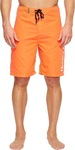 "Hurley MBS0006250 Men's One And Only 2.0 21"" Board Shorts, Bright Crimson - 34"