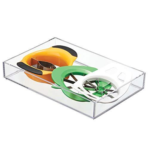 InterDesign Clarity Plastic Drawer Organizer, Storage Container for Vanity, Bathroom, Kitchen Drawers, 8