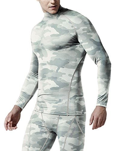 Tesla Men's Thermal WinterGear Compression Baselayer Mock Long Sleeve T Shirts T32 / T42 / TX2 / G32
