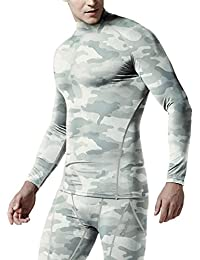 Men's Mock Long-Sleeved T-Shirt Cool Dry Compression Baselayer MUT12/T11/T01