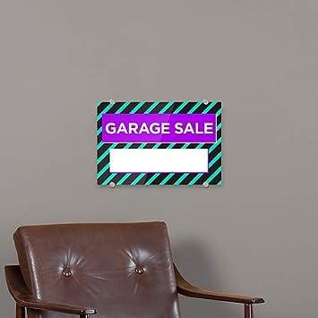 CGSignLab Modern Block Premium Acrylic Sign Garage Sale 5-Pack 18x12