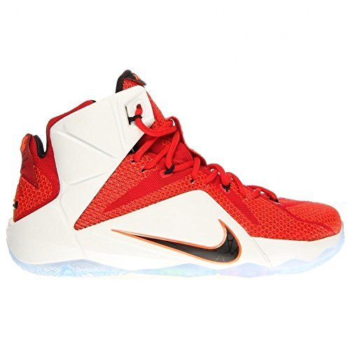 Nike Lebron XII (GS) Boys Basketball Shoes 685181-602 University Red Black-Hyper Crimson-White 7 M US