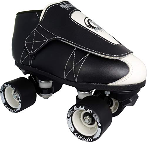 VNLA Tuxedo Jam Skate Mens Womens Skates – Roller Skates for Women Men – Adjustable Roller Skate Rollerskates – Outdoor Indoor Adult Skate – Kid Kids Skates Black White