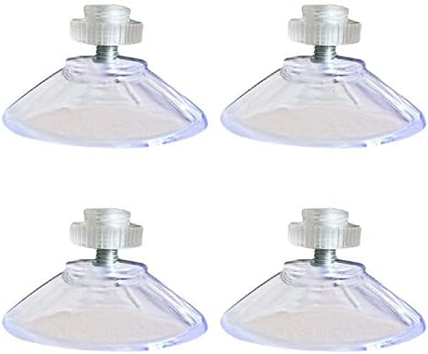 HIGH QUALITY /& GREAT PRICE! 40mm Suction Cups With 10mm Long Thread /& Clear Nut