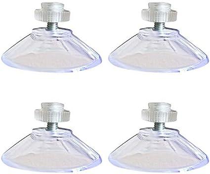 WARMWORD Ventosa 40mm con Tuerca, Ventosas Redondas de Plástico 4 Piezas, Chupones Ventosas Aislantes Termicos, Ventosas para Cristales Ganchos de Ventosa Extra Fuerte para baño