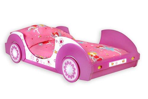 Traumhaftes Autobett BUTTERFLY Kinderbett Bett Mädchenbett Kinderzimmer