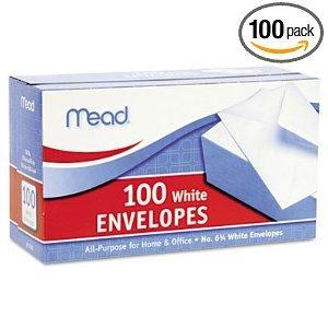 Envelopes 6 3/4 Inches Long White- Box of 100 (Finish Hill Spring White)