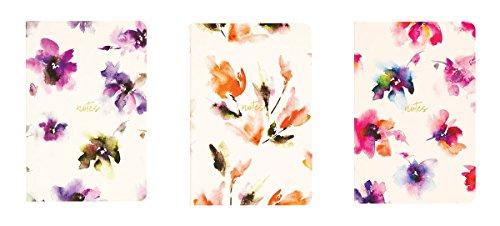 r Floral Watercolor Pocket Jotters Set Of Three (Jotter Set)