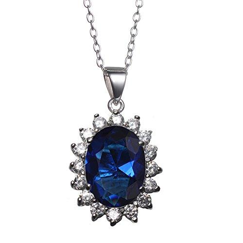 KIVN Zirconia Princess Engagement Necklaces