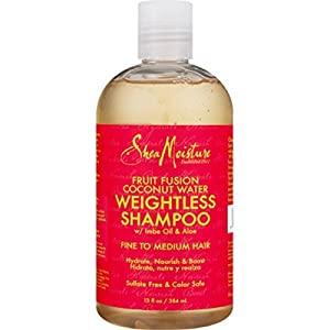 Shea Moisture Fruit Fusion Coconut Water Weightless Shampoo, 13 Ounce