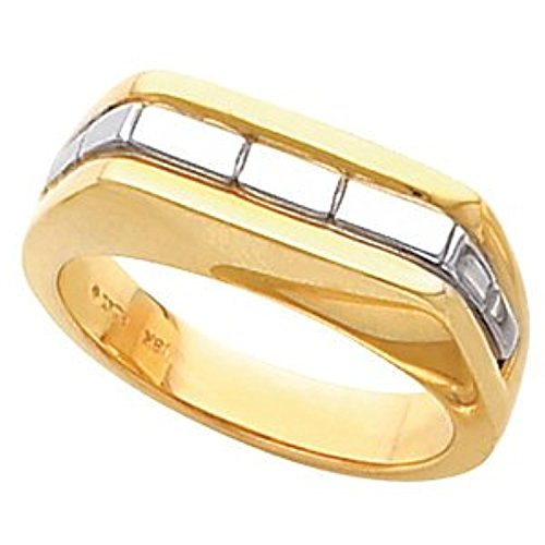 14K White Yellow Gold Two Tone Gents Mounting, Size: - Tone Two Gold Mounting