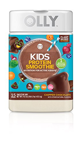 OLLY Kids Protein Powder, Plant-Based Protein, Chipper Chocolate, 16.7oz (15 Servings)