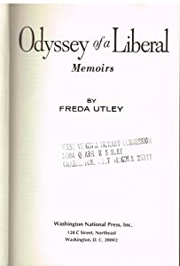 Hardcover Odyssey of a Liberal; memoirs Book