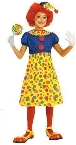 Disfraz de Payaso Gracioso para Niñas, Jester Ragdoll (7-9 años ...