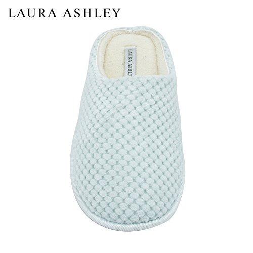laura-ashley-ladies-clog-style-spa-slippers-with-memory-foam-insole-in-sour-apple-green-size-m