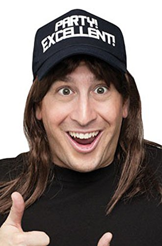 Excellent! Wayne's World Wig and Hat Costume Accessory - Wig World Waynes