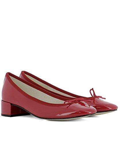 Femme Cuir Rouge V511V1154 Escarpins Repetto fFqpRnwF