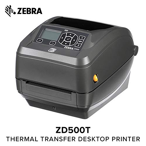 Zebra - ZD500t Thermal Transfer Desktop Printer for Labels and Barcodes - Print Width 4 in - 203 dpi - Interface: WiFi, Bluetooth, Ethernet, Parallel, Serial, USB - with Peeler ()