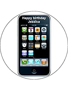 A4 Mobile Phone Cell Phone Birthday Cake Toppers Personalised and