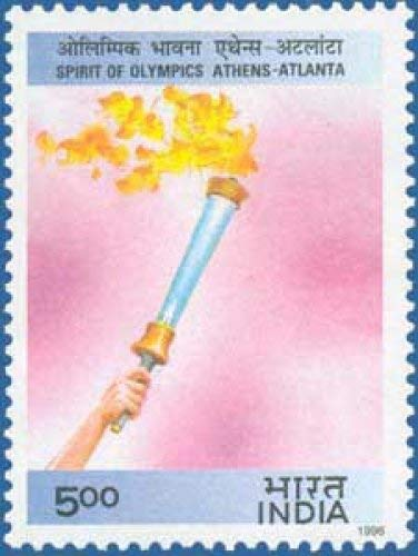 Sams Shopping Spirit of Olympics Thematic Olympic Torch Rs5 Stamp