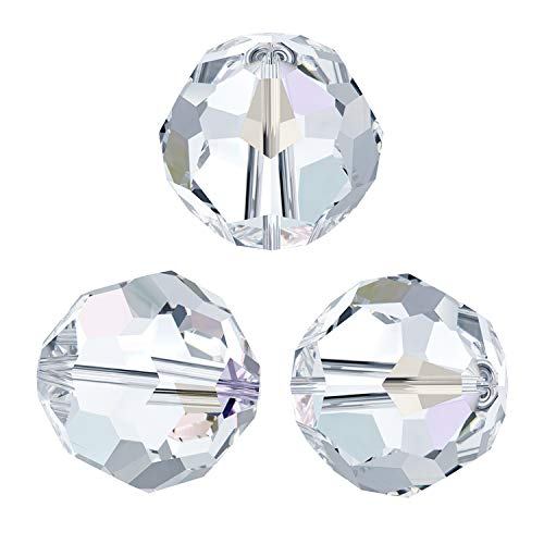 12 pcs Swarovski Crystal 5000 Round Faceted Bead Clear AB 4mm / Findings / Crystallized Element