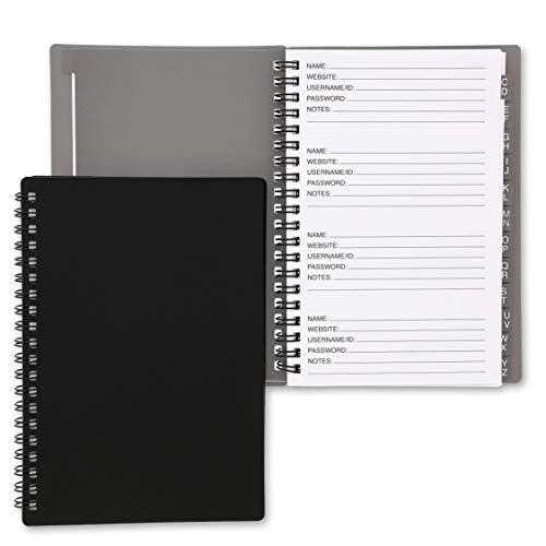 Juvale 2-Pack Internet Address and Password Keeper Logbook Journal with Tabs, 80 Pages Each, 6 x 7 Inches