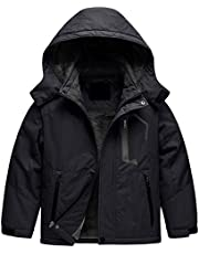 Boy's Waterproof Ski Jacket Warm Winter Fleece Snow Coat Windproof Snowboarding Rain Jacket