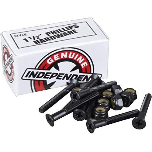 """Independent Genuine Parts Cross Bolts Standard Phillips Skateboard Hardware (Black/Black, 1 1/2"""")"""