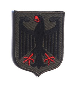 HIGH QUALITY Patch GERMANY EAGLE GERMAN FLAG DEUTSCHLAND COUNTRY TACTICAL MORALE EMBROIDERY VELCRO PATCH (2) (Embroidery Eagle Flag)