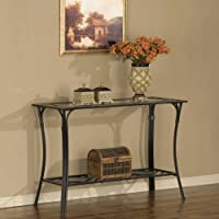 Slate and Glass Sofa Table