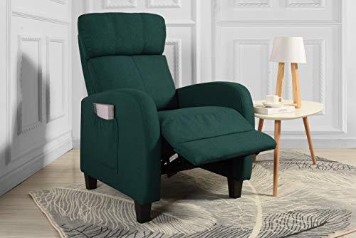 Living Room Slim Manual Recliner Chair (Green)