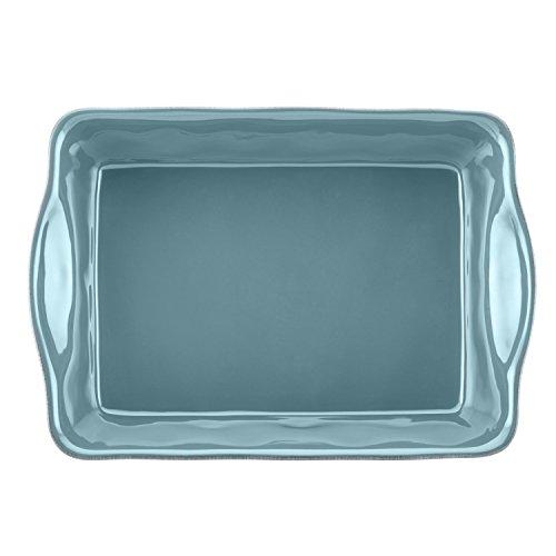 Rachael Ray Cucina Stoneware 9-Inch x 13-Inch Rectangular Baker, Agave Blue