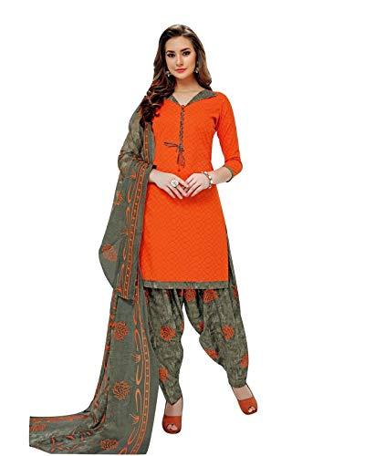 Ladyline Cotton Printed Salwar Kameez Ethinc Patiala Salwar ()