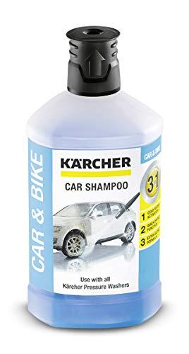 Kärcher 1 L, 3-in-1 Car Shampoo Plug and Clean, Pressure Washer Detergent