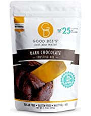 Good Dee's Just Add Water Dark Chocolate Frosting Mix - Low Carb Keto Frosting Mix (25 Calories, 2g Net Carb Per Serving) | Gluten-Free, Sugar-Free & Maltitol-Free | Diabetic & Atkins Friendly