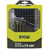 Ryobi RAK86MIX Mixed Drilling and Driving Bit Set, 86 Piece